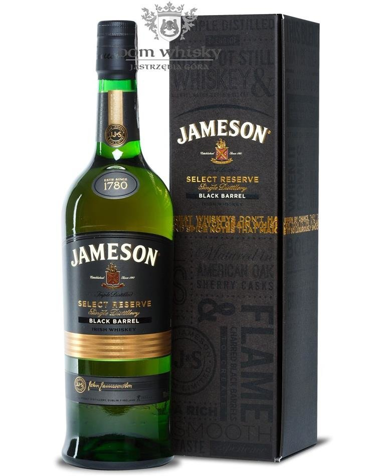 jameson select reserve black barrel 40 0 7l dom whisky. Black Bedroom Furniture Sets. Home Design Ideas
