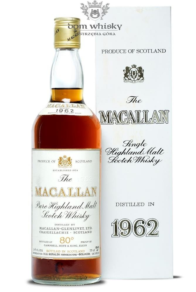 Macallan 1962 (80º proof) / 46%/ 0,75l