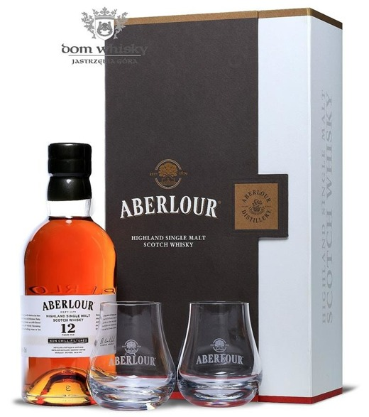 Aberlour 12-letni Non chill-Filtered (2xTasting Glasses)/48%/0,7