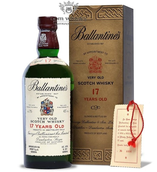 Ballantine's 17-letni Old Label, 1974 / 43% / 0,75l