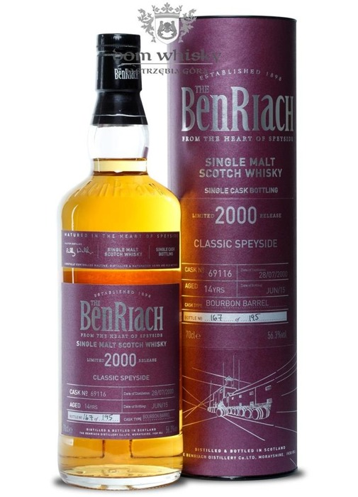 BenRiach 2000, 14-letni (Bourbon Barrel # 69116) / 56,3% / 0,7l