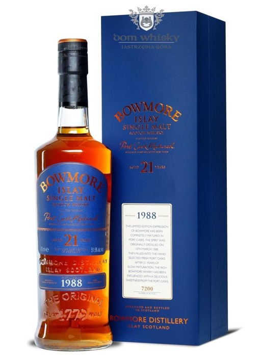 Bowmore 1988, 21-letni Port Cask Matured / 51,5% / 0,7l