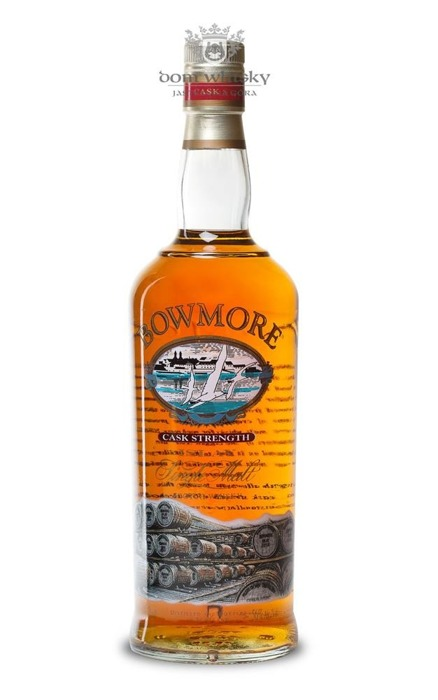 Bowmore Cask Strength Screen Printed Label (bez opak.) 56% 0,75l