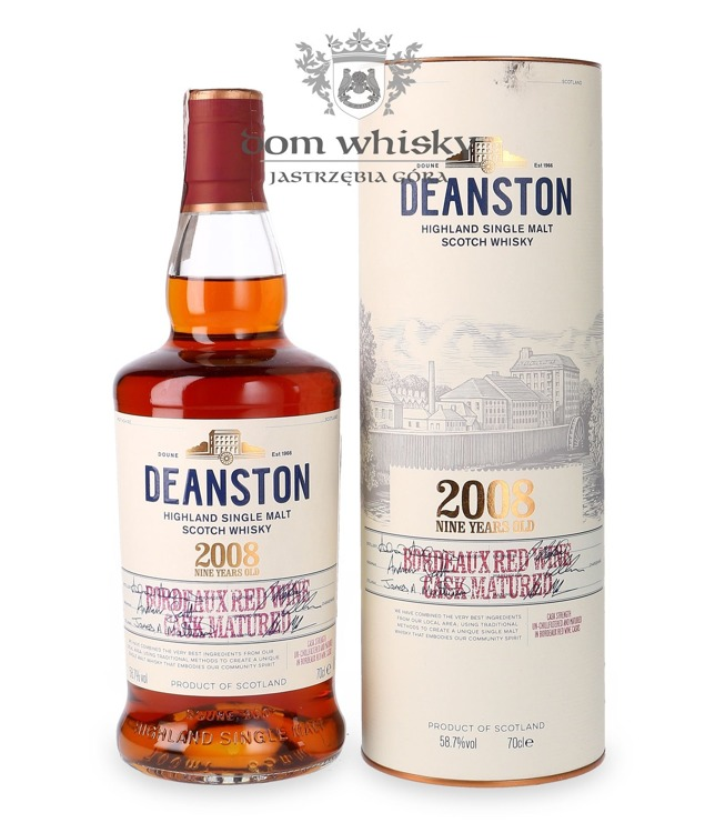Deanston 2008, 9-letni Bordeaux Red Wine Cask Matured /58,7%/ 0,7l