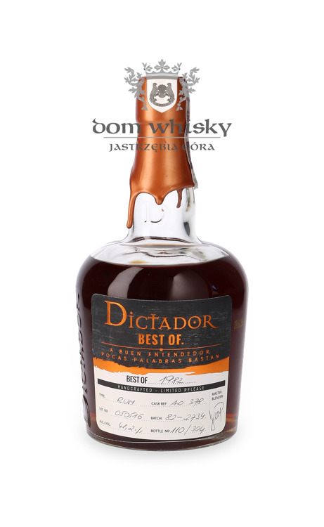 Dictador Rum Best of 1982 / 41,2% / 0,7l