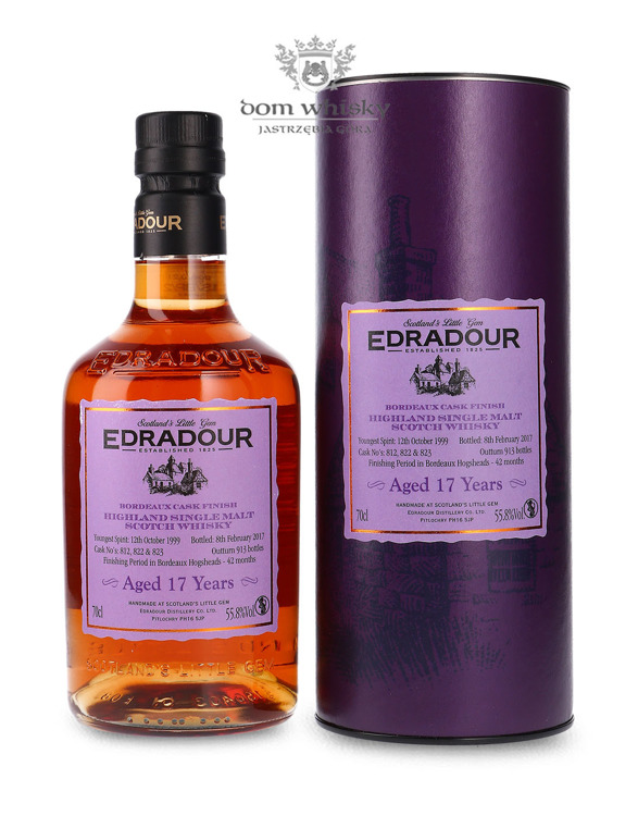 Edradour 1999 (B.2017), 17-letni, Bordeaux Cask Finish / 55,8% / 0,7l