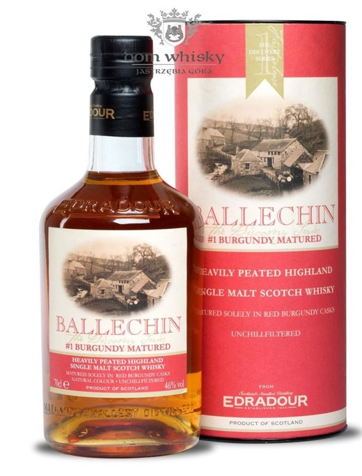 Edradour Ballechin # 1 Burgundy Cask Matured / 46% / 0,7l
