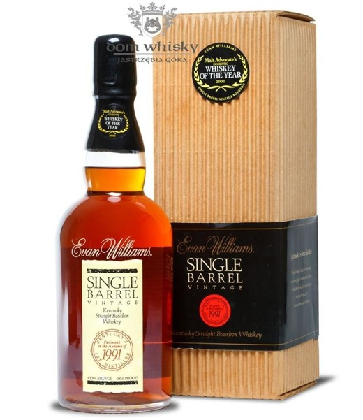 Evan Williams Single Barrel 1991 Vintage/ 43,3% /0,7l
