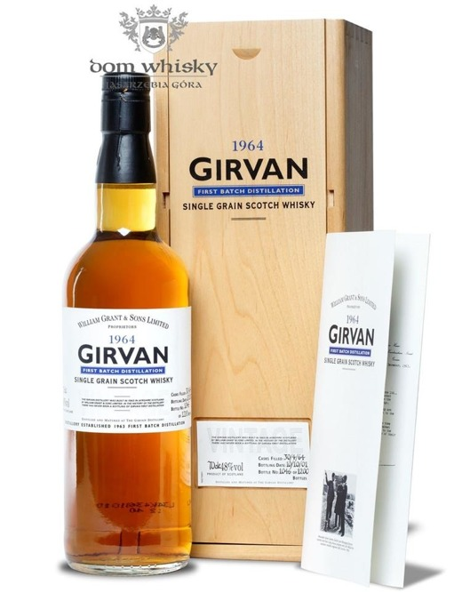 Girvan 1964 Vintage, 37-letni Single Grain / 48% / 0,7l