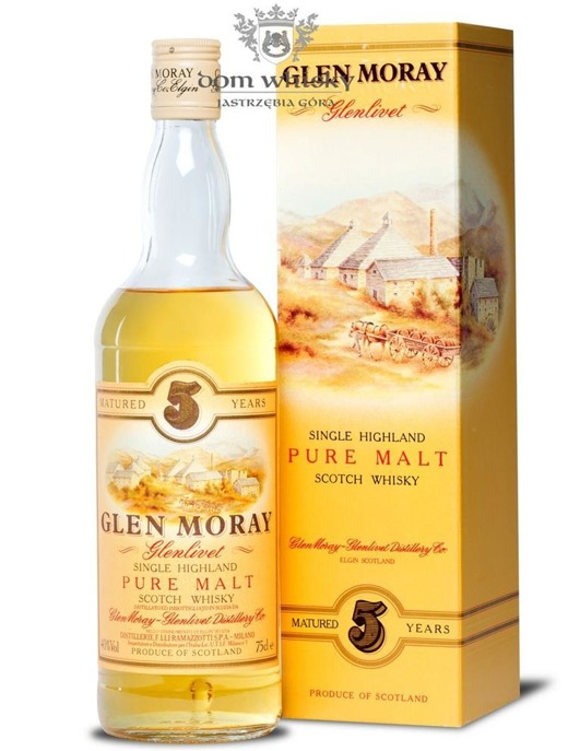 Glen Moray Glenlivet 5-letni Pure Malt / 40% / 0,75l