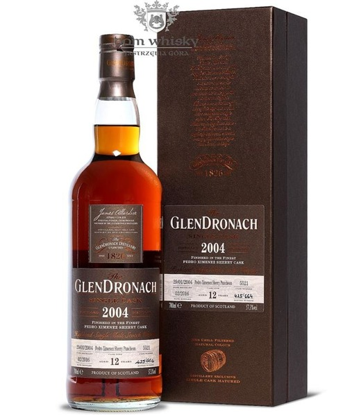 GlenDronach 12-letni (D.2004 B.2016)Single Cask #5521 57,3% 0,7l