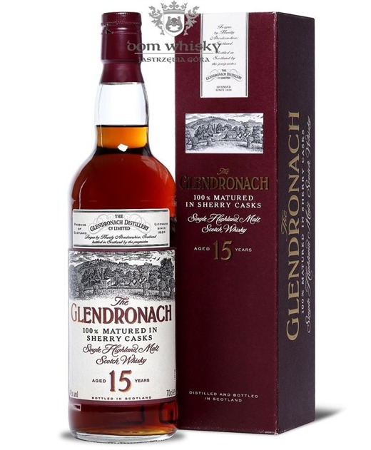 GlenDronach 15-letni 100% Matured in Sherry Casks / 40% / 0,7l