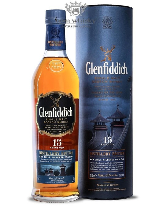 Glenfiddich 15-letni Distillery Edition  / 51% / 0,7l