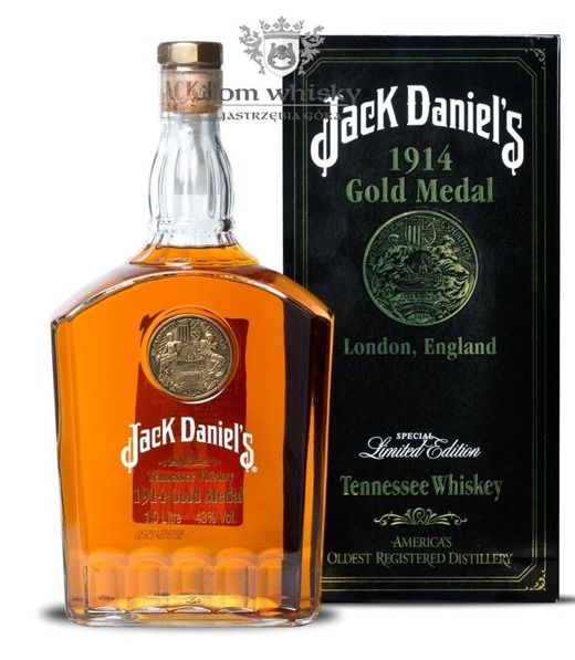 Jack Daniel's Gold Medal 1914, London / 43% / 1,0l