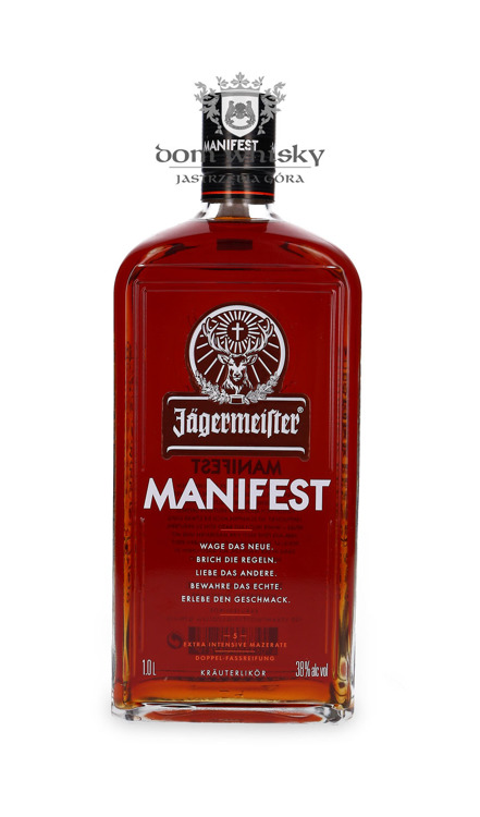 Jagermeister Manifest Double Barrel Matured / 38% / 1,0l