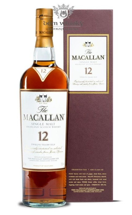 Macallan 12-letni (Matured in Sherry Casks) /40%/0,7l