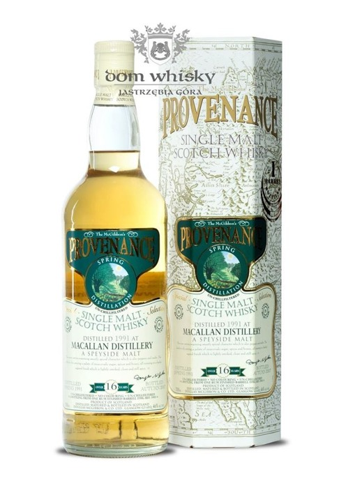 Macallan 16-letni (D.1991, B.2007) Provenance /46%/0,7l