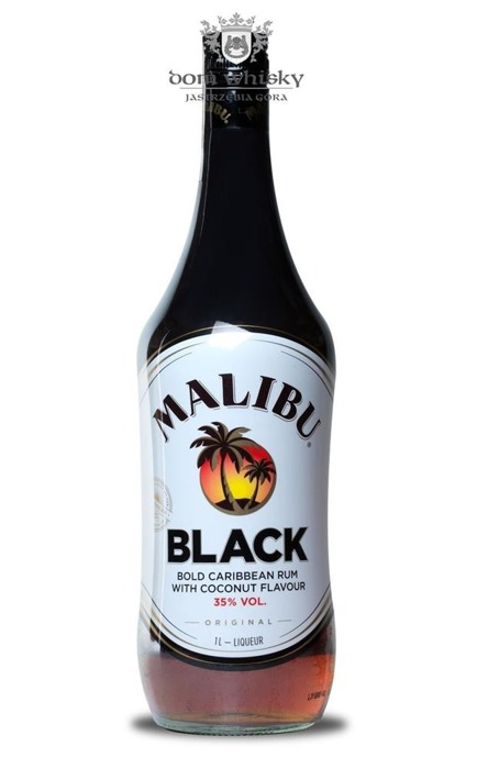 Malibu Black Caribbean Rum with Coconut / 35% / 1,0l