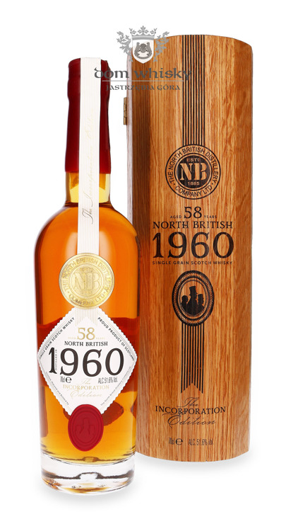 North British 1960 Incorporation Edition 58-letni Single Grain/ 51,6%/0,7l