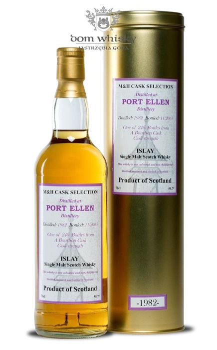 Port Ellen 23-letni (D.1982, B.2005) M&H Cask Selection / 55,7%/ 0,7l