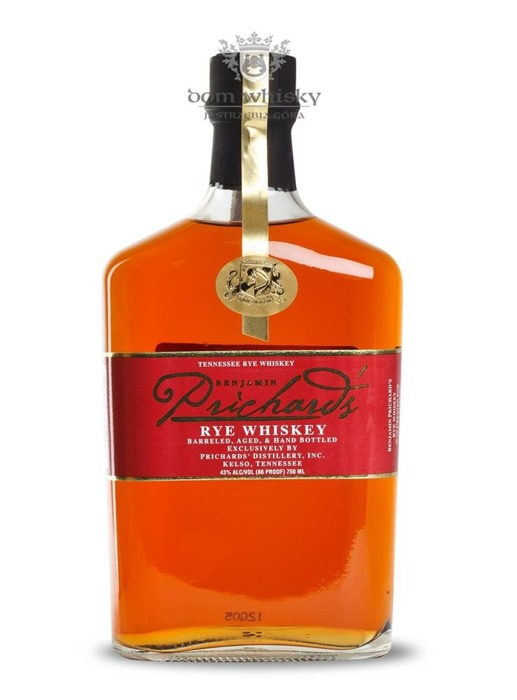 Prichard's Tennessee Benjamin Rye Whiskey / 43% / 0,75l