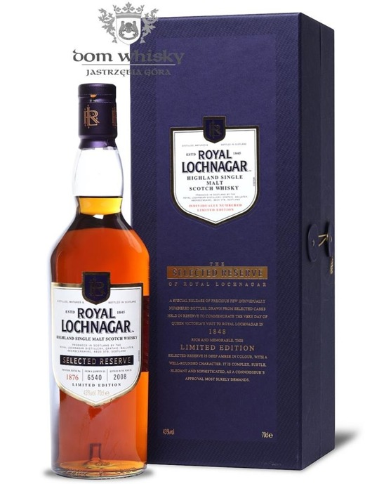 Royal Lochnagar Selected Reserve (2008 Release) / 43%/ 0,7l