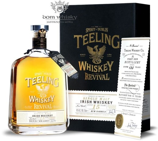 Teeling The Revival, 15-letni, Rum Barrel / 46% / 0,7l