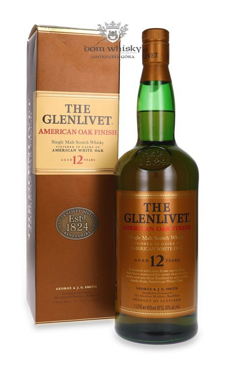 The Glenlivet 12-letni, American Oak Finish / 40% / 1,0l