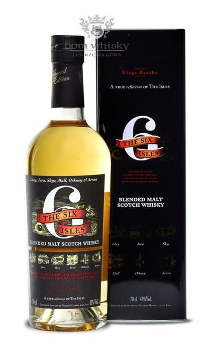 The Six Isles Blended Malt (Islay, Jura, Skye, Mull, Orkney, Arran) / 43%/ 0,7l