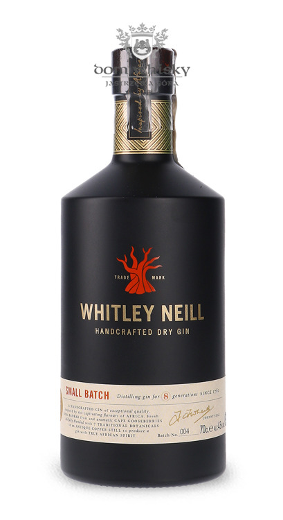 Whitley Neill Handcrafted Dry Gin #004 (UK) / 43% / 0,7l