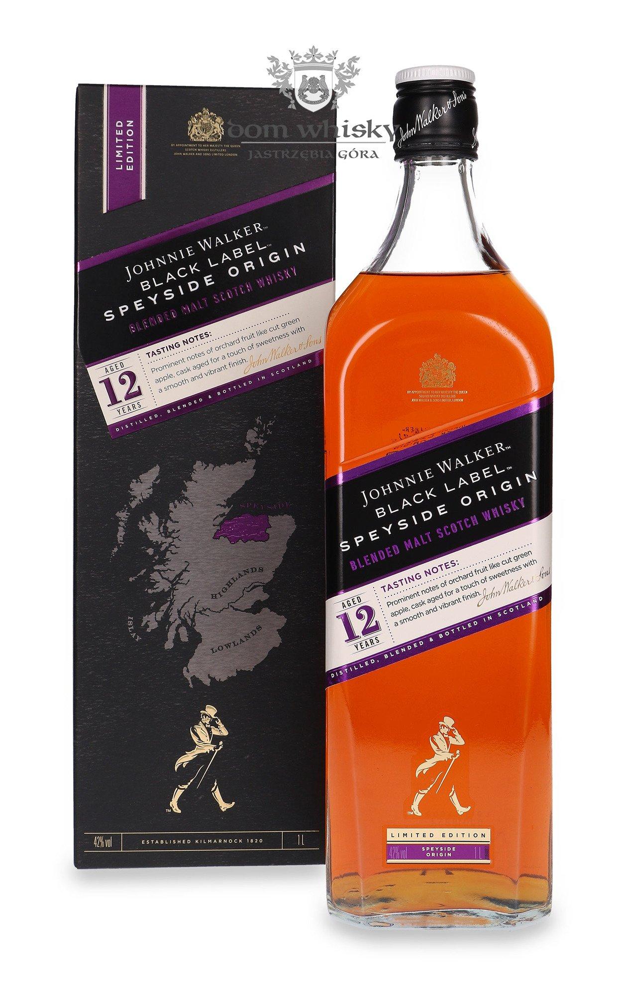 Johnnie Walker Black Label 12 Letni Speyside Origin 42 1 0l Dom Whisky