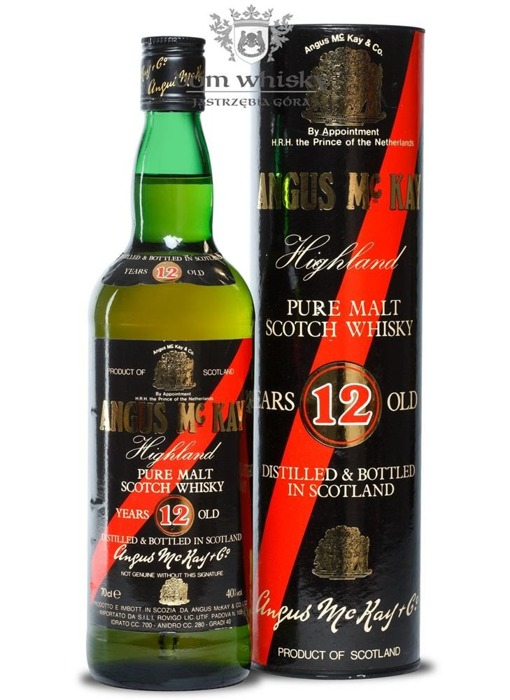 Angus McKay Pure Malt Scotch Whisky, 12-letni / 40% / 0,7l