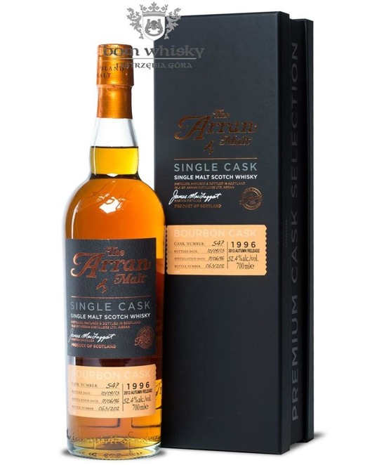Arran Premium Cask Selection, Bourbon(D.1996, B.2013)52,4% /0,7l