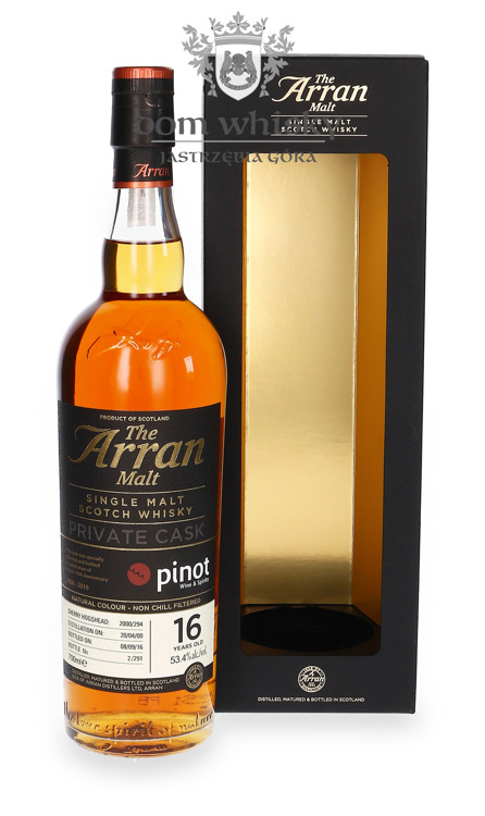 Arran Private Cask, 16-letni (D.2000, B.2016) / 53,4% / 0,7l