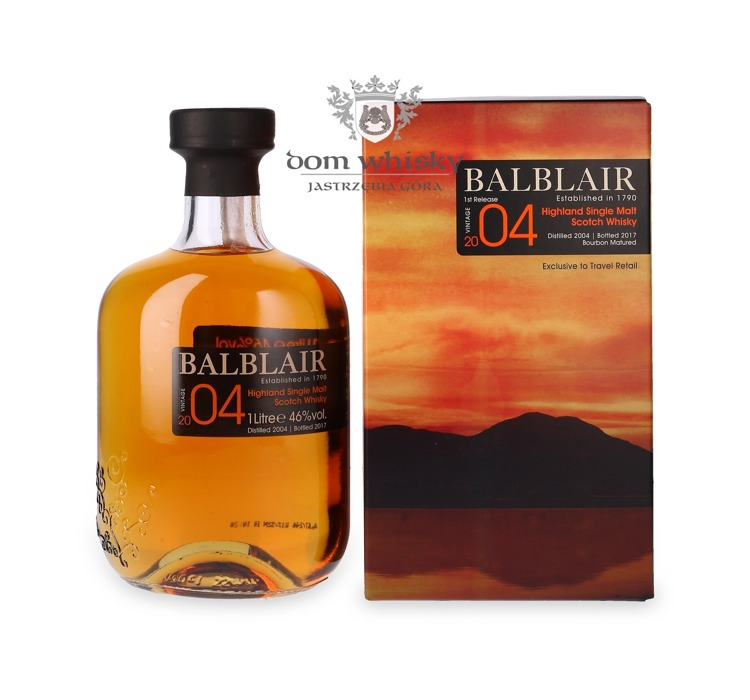 Balblair 2004 (Bottled 2017) 1st Release, Bourbon Matured /46%/ 1,0l
