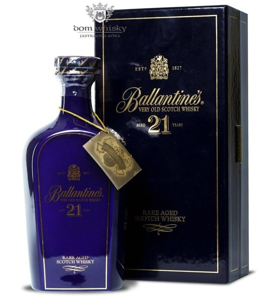 Ballantine's 21 letni Blue Decanter / 43% / 0,7l