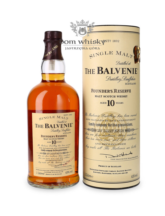 Balvenie Founder's Reserve 10-letnia (Bottled early 2000s)  /43%/ 1,0l