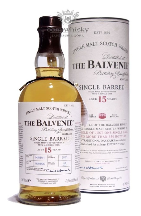 Balvenie Single Barrel, 15-letni (D.1995, B.2011) / 47,8% / 0,7l
