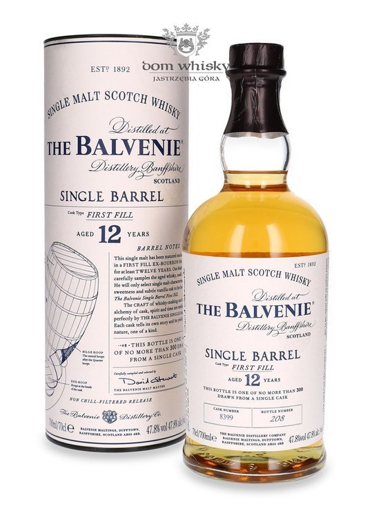 Balvenie Single Barrel First Fill, 12-letni # 8399 / 47,8% / 0,7l