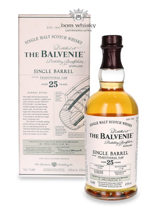 Balvenie Single Barrel Traditional Oak, 25-letni Cask 1864 / 47,8% / 0,7l
