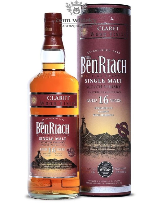BenRiach Claret Wood Finish, 16-letni / 46% / 0,7l