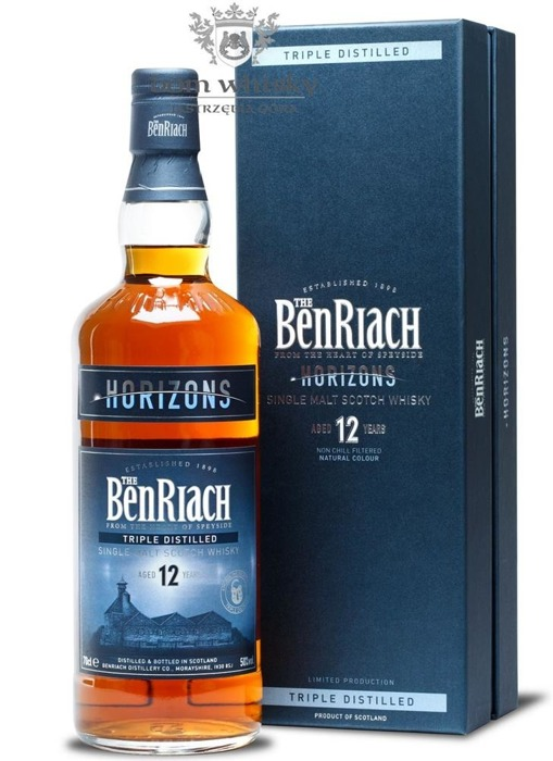BenRiach Horizons, 12-letni Triple Distilled / 50% / 0,7l