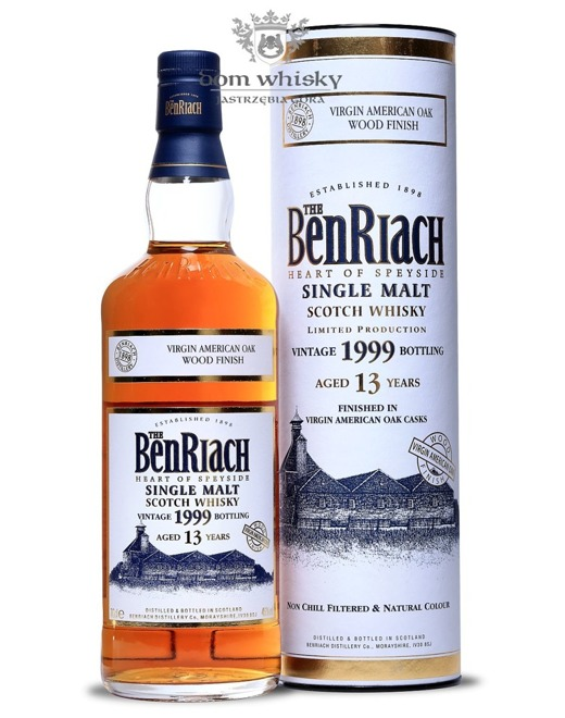BenRiach Virgin American Oak Wood Finish, Vintage 1999, 13-letni / 46% / 0,7l
