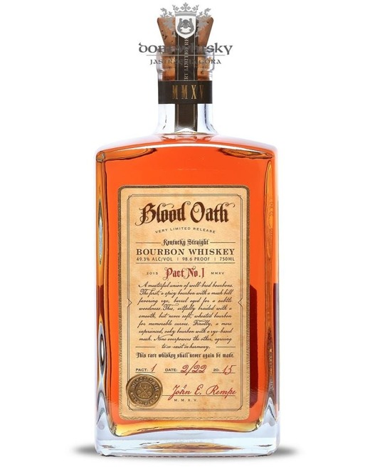 Blood Oath Straight Bourbon Pact No. 1/ 49,3%/ 0,75l