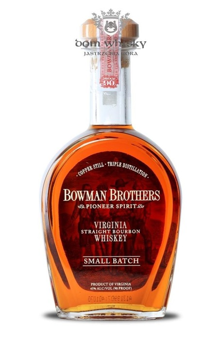 Bowman Brothers Virginia Straight Bourbon Whiskey Small Batch / 45% / 0,75l