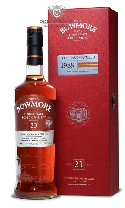 Bowmore 1989, 23-letni, Port Cask Matured / 50,8% / 0,7l
