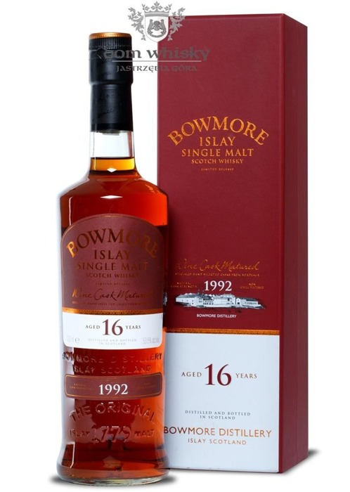 Bowmore 1992, 16-letni, Wine Cask Matured / 53,5% / 0,7l