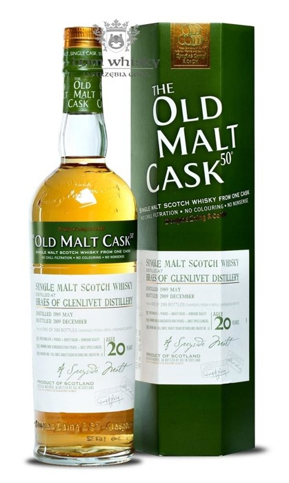 Braes Of Glenlivet 20-letni(D.1989 B.2009)Old Malt Cask /50%/0,7