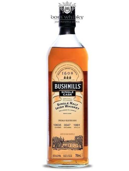 Bushmills 1991 Single Cask (Cask # 10635) / 43%/ 0,75l