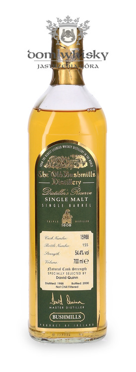 Bushmills Distiller's Reserve Single Barrel (D.1988, B.2000) / 54,4%/ 0,7l